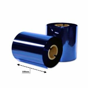 Риббон синий металлик УТИЛИЗАЦИЯ 100мм*200м.