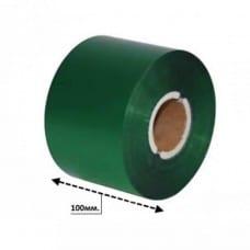 Риббон текстильный 100*300 зеленый матовый