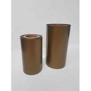 Риббон золото матовый ЭКОНОМ 100мм*200м.