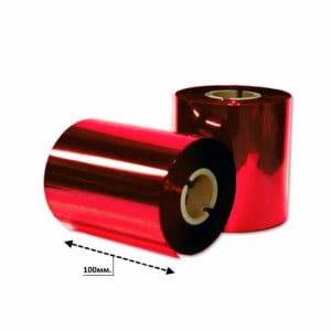 Риббон красный металлик 100мм*200м.