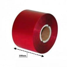 Риббон красный матовый WR 100мм*300м.