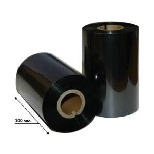 Риббон черный текстиль эконом 100мм*300м.