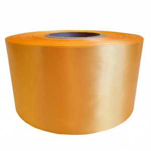 Сатин желто - оранжевый манго